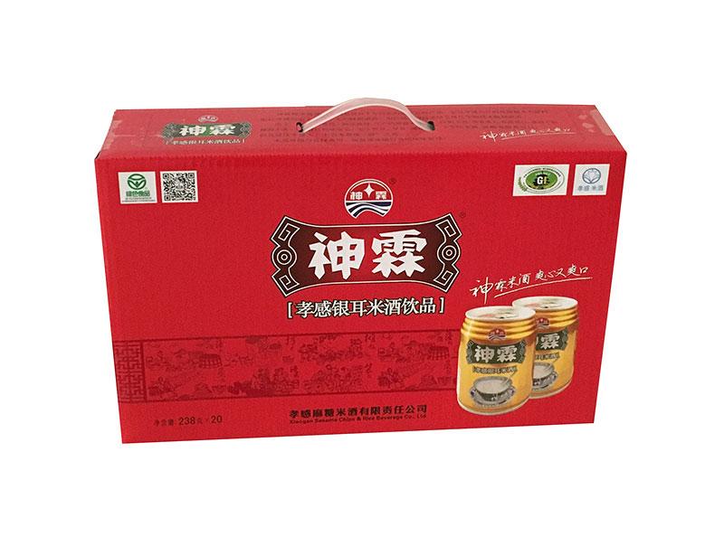 神霖米酒—238gx20红底金罐箱式