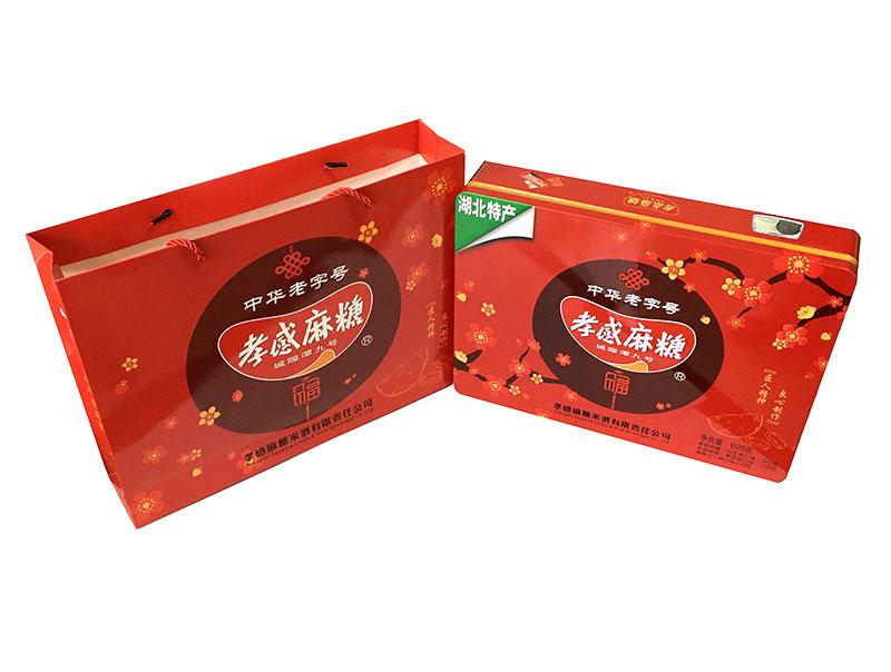 『孝感牌』麻糖—中国红混装铁听提式